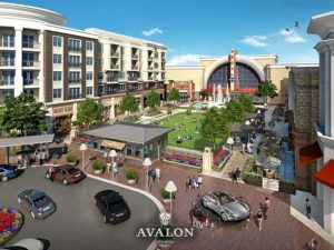 area view of Avalon shopping center in Alpharetta Georgia