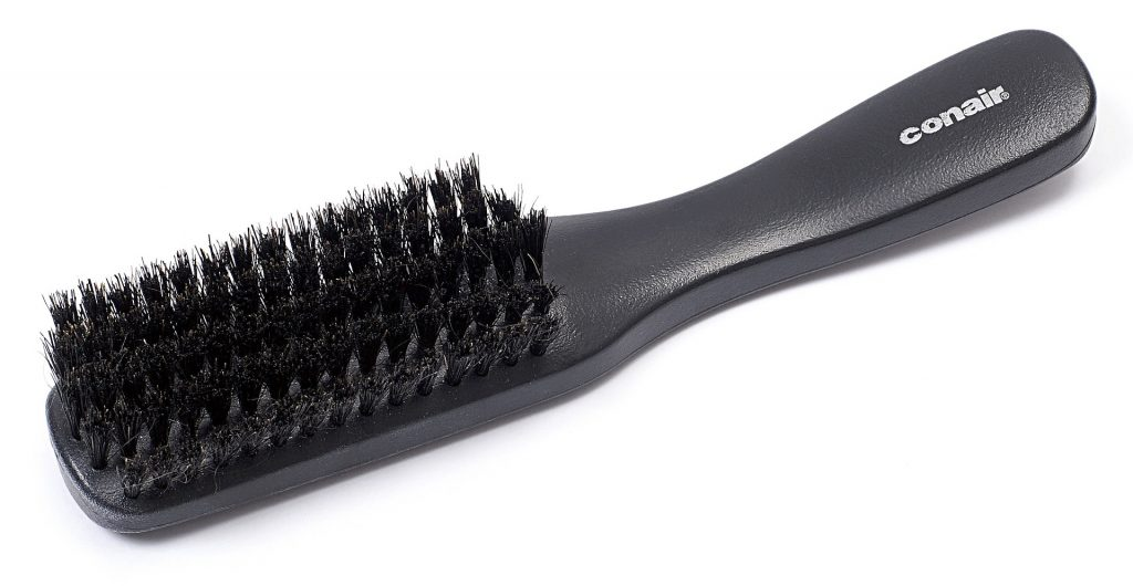 black hair brush