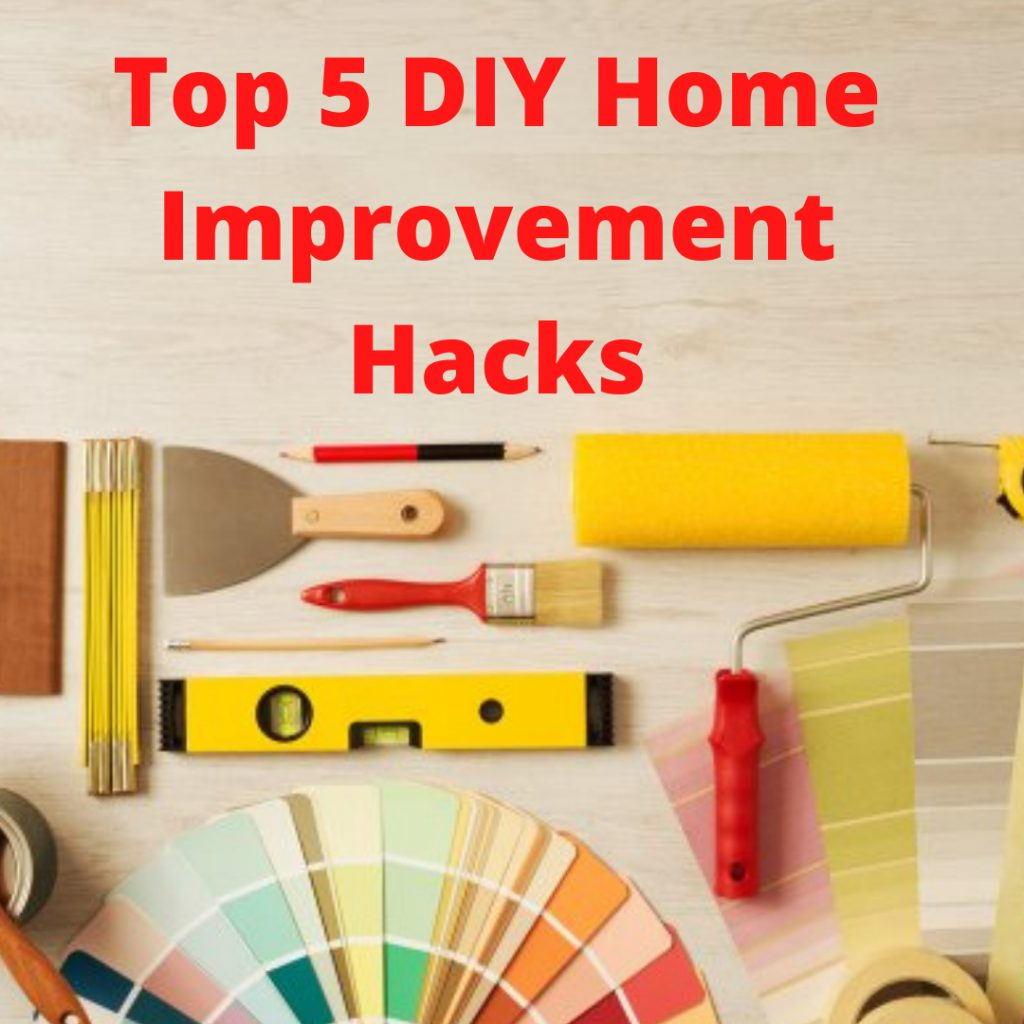 diy home improvement hacks title with tools