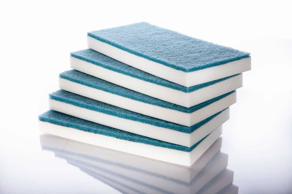 stack of 5 blue top magic erasers