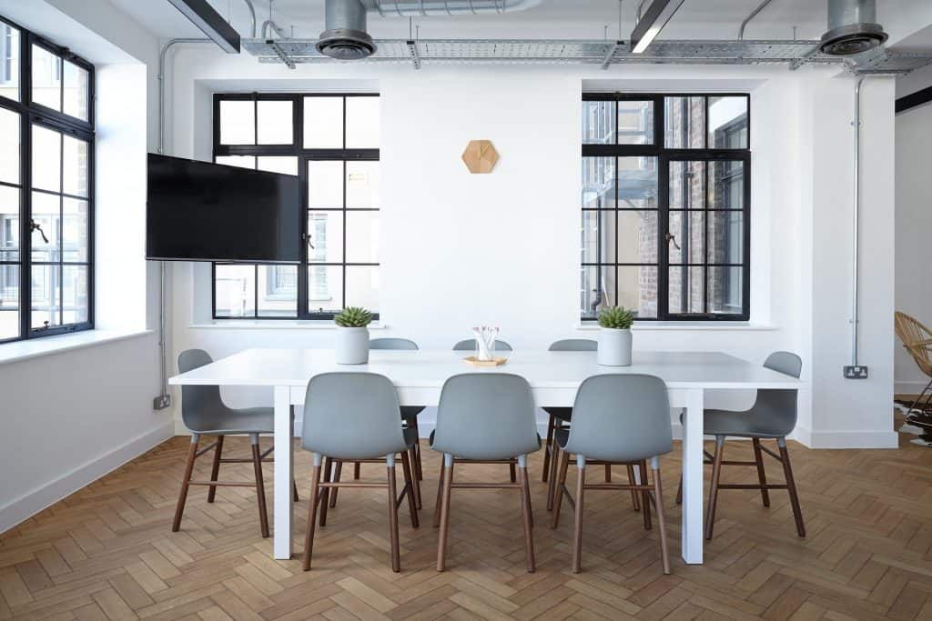 office conference room with white walls